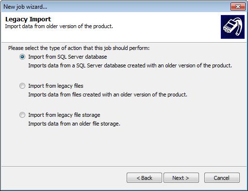 Database legacy import