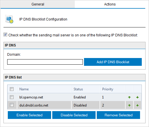 IP DNS Blocklist