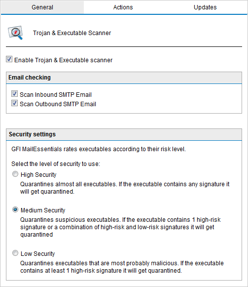 Trojan and executable scanner